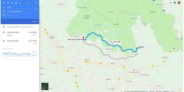 Höhenmeter Karte Deutschland.So Erhalten Sie Höhenangaben Und Höhenmeter über Google Maps Pc Welt