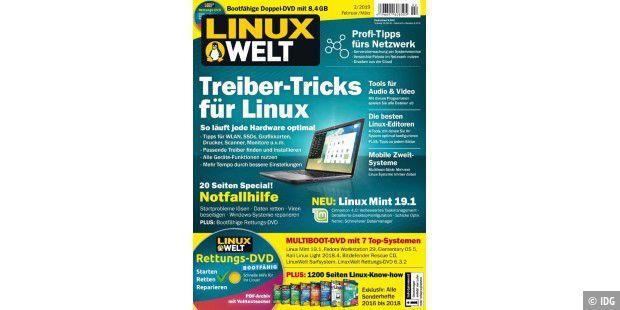LinuxWelt 2/2019 am Kiosk: Treiber-Tricks für Linux - PC-WELT
