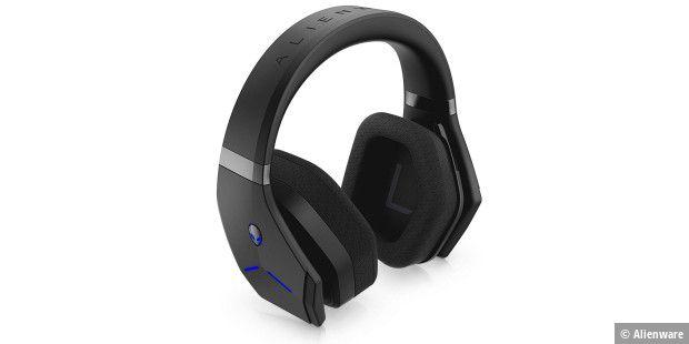 alienware aw988 im test wireless gaming headset mit. Black Bedroom Furniture Sets. Home Design Ideas