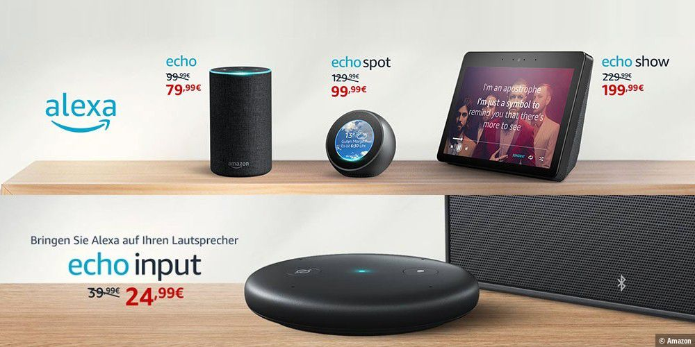 amazon echo ger te aktuell zu dealpreisen erh ltlich pc. Black Bedroom Furniture Sets. Home Design Ideas