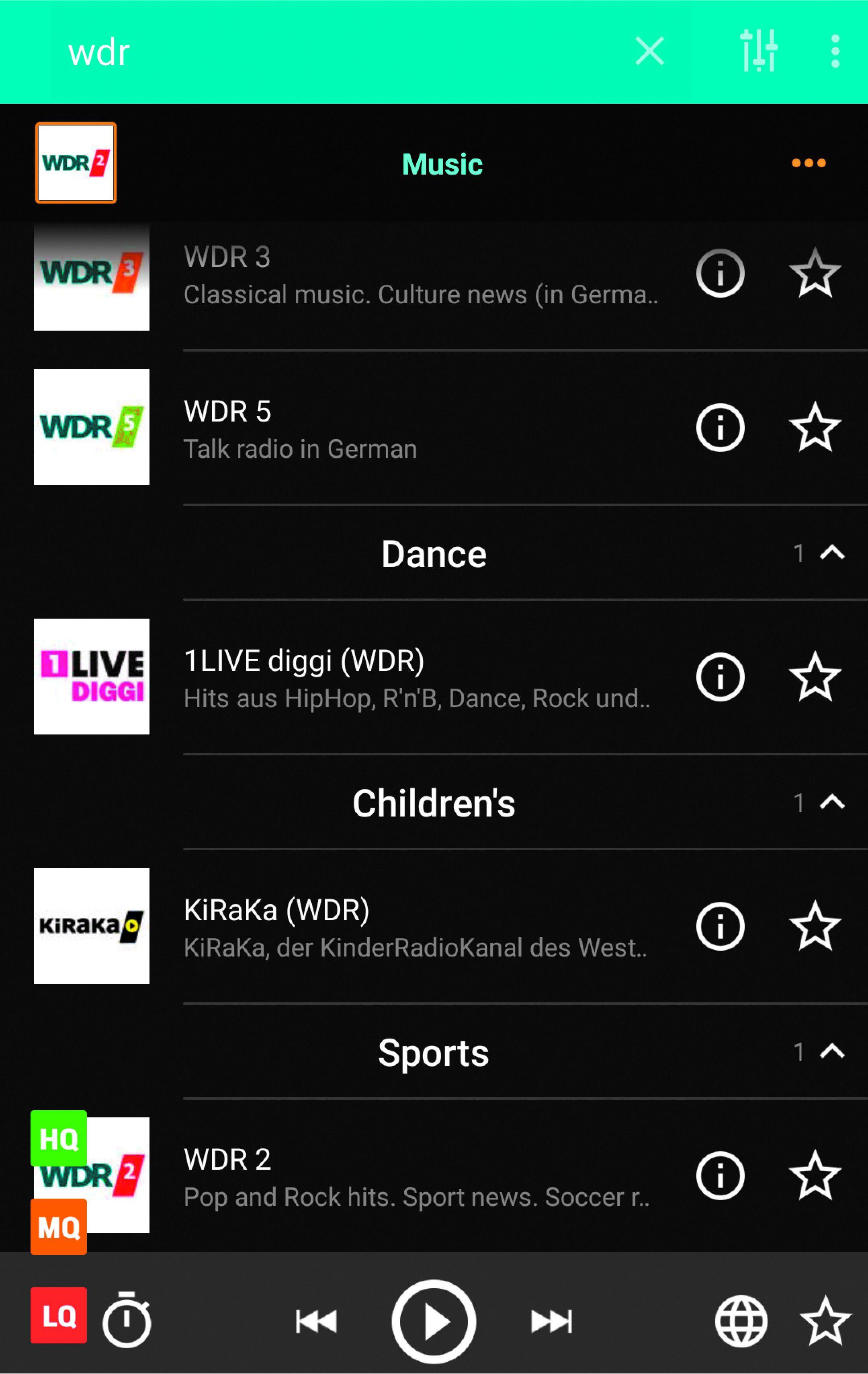 Datenverbrauch Webradio