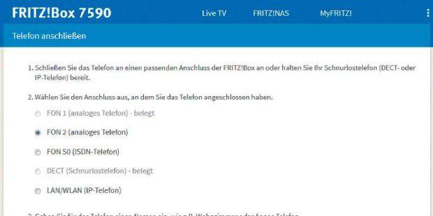 Fritzbox 7530 telefon einrichten