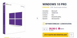 Im Angebot: Windows 10 Pro, Office 2016 günstiger