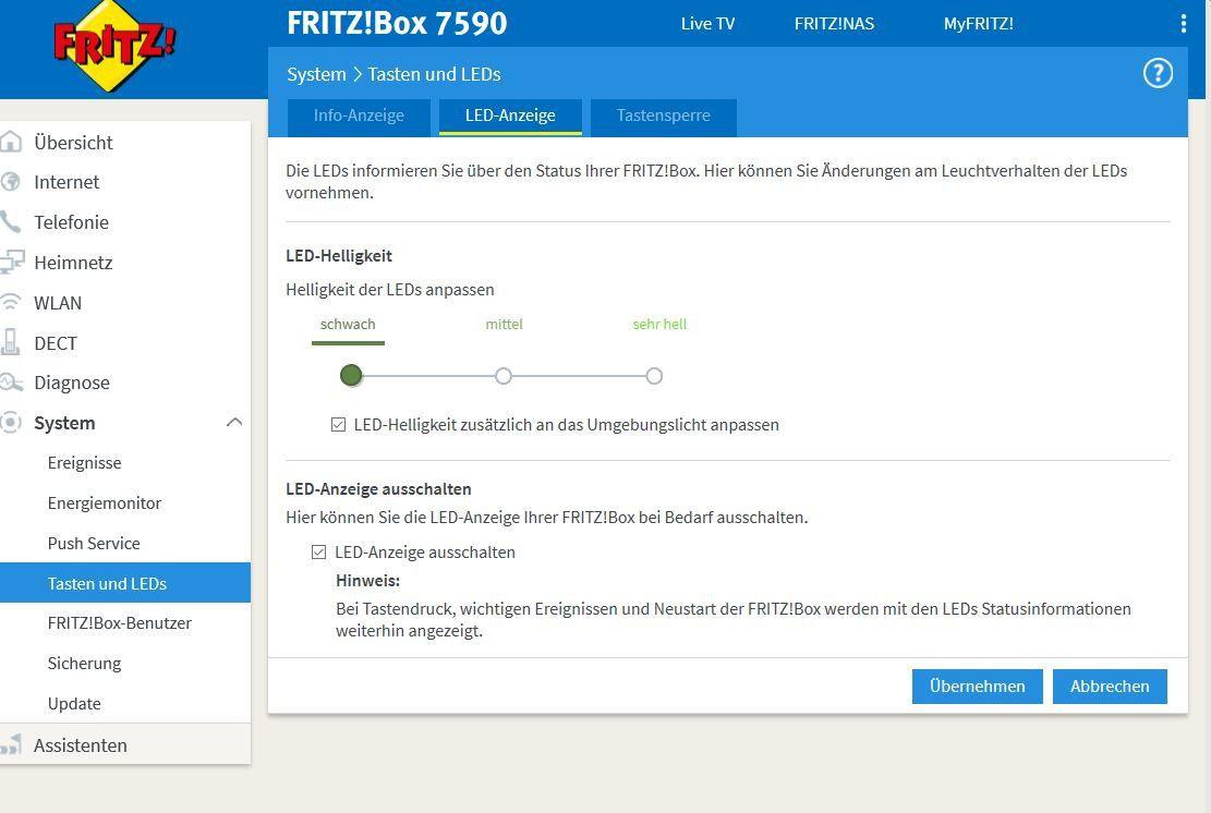Fritzbox 20 LED Anzeige ausschalten   so geht's   PC WELT