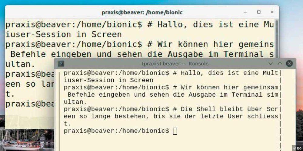 Andere User treffen in Linux dank Kommandozeile Screen