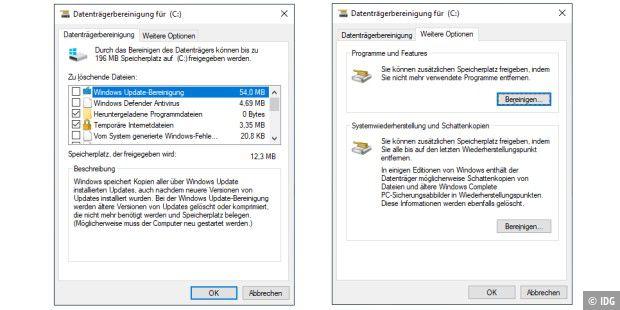 windows 10 beschleunigen und entrümpeln