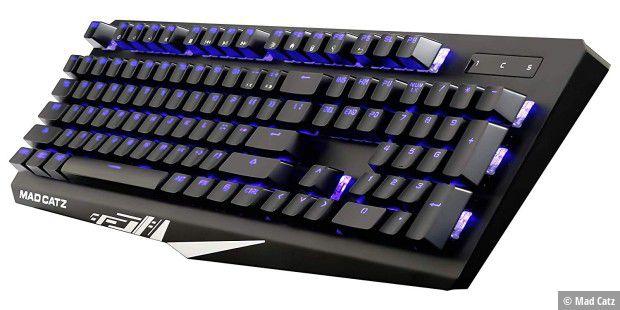 Mit der Mad Catz Strike 4 haben wir die aktuelle Gaming-Tastaur mit mechanischen Schaltern der wiederbelebten Marke im Test.