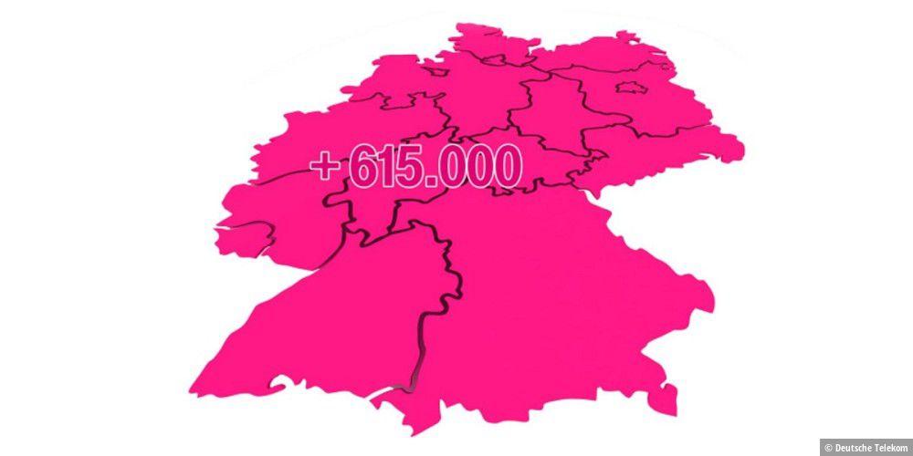 Deutsche Telekom: Bis zu 250 Mbit/s für weitere 615.000 Anschlüsse