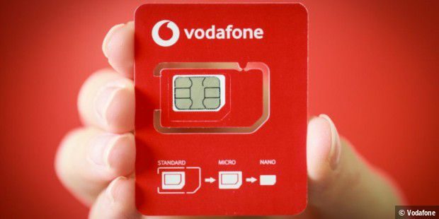 Vodafone halbiert SIM-Karten-Rahmen ab April 2020