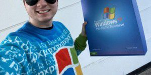 Microsoft verschenkt Win-XP-Pulli in cooler XP-Pro-Box