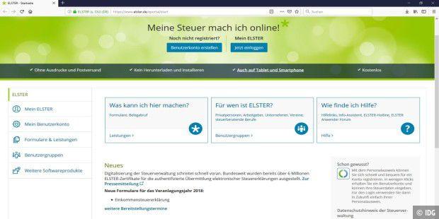 Steuererklarung 2019 Mit Elster Online So Geht S Pc Welt