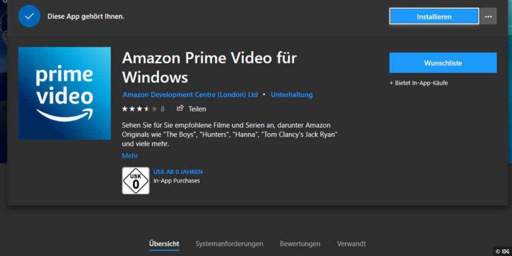 Amazon Prime Auf Windows 10