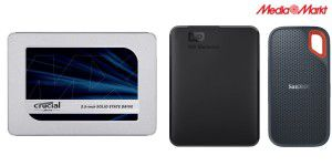 SSDs, portable HDDs + weitere Top-Deals bei Media Markt
