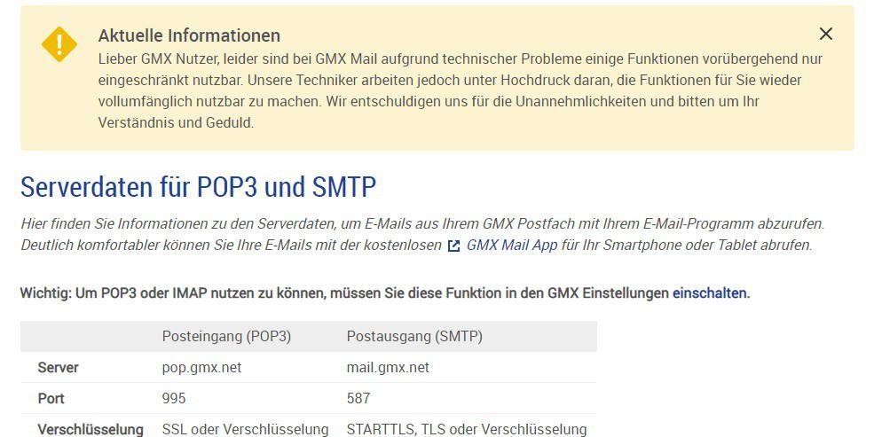 Gmx direkt login handy
